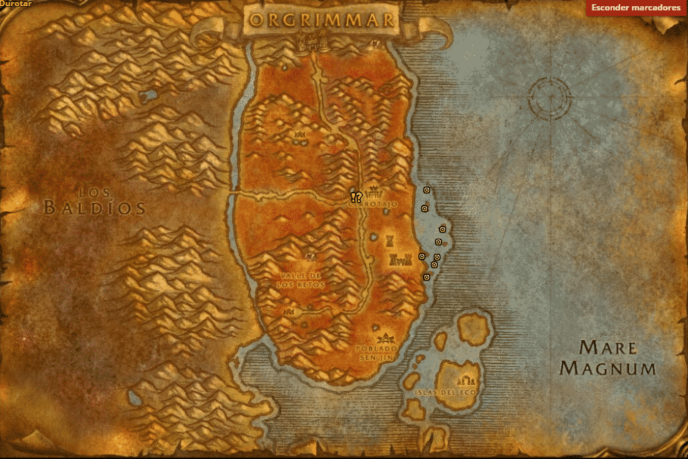 Mapa restos del naufragio