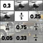 Parejas de Fracciones y Decimales